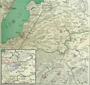 Zürcher Täufer, Karte von 1685